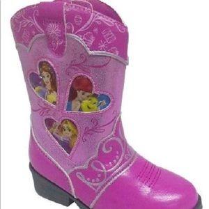 🆕 Disney Princess Pink Cowboy Western Boot